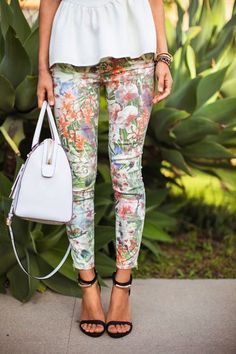 Floral is always a must for spring fashion and those strappy stilettos kill it!