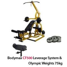Bodymax CF500 Leverage System & Olympic Weights 75kg: http://www.menshealthstore.co.uk/Bodymax-CF500-Leverage-System-and-Olympic-Weights-75kg/lid/15499