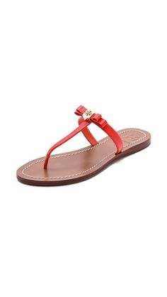764e866bb59d78 Tory Burch LEIGHANNE SANDALS Poppy Red