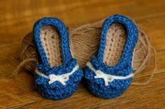 Ruffle Ballet Flat Crochet Pattern for Baby booties Pattern