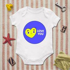 I Love You bodysuit, Love, Heart, Girls Onesie, baby clothing, Baby Bodysuit, Baby Girl Bodysuit, Wild Child Style, Baby Gift, Girls Onesie