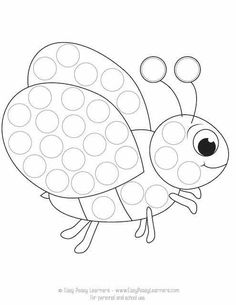 Spring Do a Dot Printables - Easy Peasy Learners Kids Printable Coloring Pages, Preschool Coloring Pages, Coloring Pages For Kids, Printable Art, Free Printables, Color Worksheets For Preschool, Preschool Art Activities, Dot Art Painting, Painting For Kids