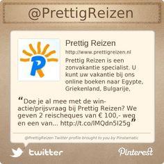 @PrettigReizen's Twitter profile courtesy of @Pinstamatic (http://pinstamatic.com)