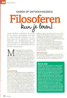 Filosoferen met Kinderen: GO! Magazine