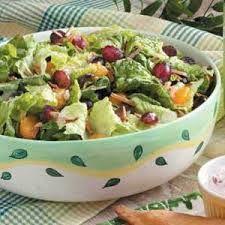 dieetrecept salade met fruit en noten: alfa en beta dagen