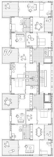 huber waser mühlebach WBW Weinberglistrasse Luzern Switzerland #floorplan #housing