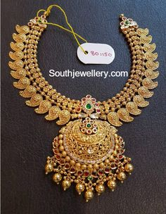 Antique Necklace latest jewelry designs - Page 7 of 333 - Indian Jewellery Designs Indian Wedding Jewelry, Indian Jewelry, Bridal Jewelry, Indian Weddings, Gold Gold, White Gold, Gold Jewellery Design, Gold Jewelry, Gold Necklaces