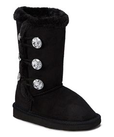 Look at this Chatz by Chatties Black Three-Button Boot on #zulily today!