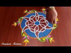 All time my favorite Kambi Kolam.very easy and simple. Indian Rangoli Designs, Simple Rangoli Designs Images, Rangoli Border Designs, Rangoli Ideas, Rangoli Designs With Dots, Rangoli With Dots, Beautiful Rangoli Designs, Rangoli Borders, Kolam Rangoli