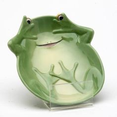 Frog Set of Two Candy Dish Serving Plate Ceramic Accent | eBay