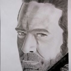 #pencildrawing #blackandwhite  #realistic #portrait #negan #jeffreydeanmorgan #twd #thewalkingdead