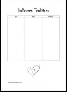 Halloween - Learning Activities:  FREE PRINTABLE fill in this Halloween Traditions Worksheet to discuss traditions past and present and those your family has. Halloween Traditions, Halloween Activities For Kids, Learning Activities, Free Printable, Fill, Printables, Traditional, Print Templates, Free Printables