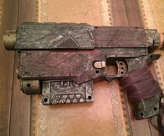 Give your alternative history cosplay getup the ideal complementary weapon by arming yourself with the steampunk NERF gun. The gun comes expertly crafted to look like rusted metal while the intricate detailing and accents like tattered leather make it ideal for cosplay.
