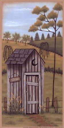 His Outhouse Fine-Art Print by Lisa Kennedy at FulcrumGallery.com