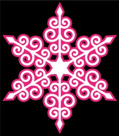 Swirly Snowflake by Bird