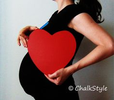 CHALKBOARD Pregnancy Maternity Photo Props Valentines or Wedding Photobooth Prop, Baby Shower Decor Heart Shaped Chalk Board