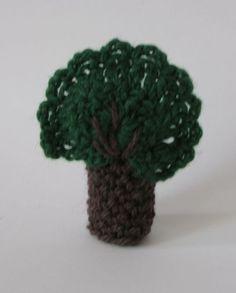 Pacynka na palec   Drzewo w nutka_art na DaWanda.com