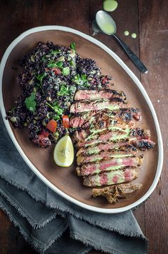 Mexican Steak and Black Rice Salad #recipe #healthy #dinner