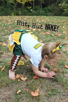 Are you kidding me??  Love it!  NFL Green Bay Packers Ruffled Bloomers Onsie Outfit NB to size 4  diaper covers  Any Team. $34.00, via Etsy.