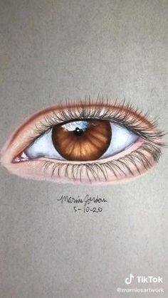 Art Drawings Beautiful, Art Drawings Sketches Simple, Pencil Art Drawings, Realistic Drawings, Cool Drawings, Hipster Drawings, Color Pencil Art, Eye Art, Art Tutorials