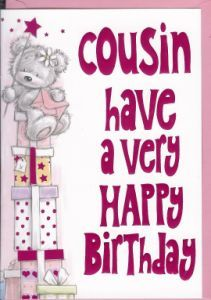 ┌iiiii┐                                                                        Happy Birthday Cousin