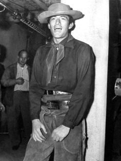 """Gregory Peck on the set of """"Duel in the Sun"""" (1946)"""