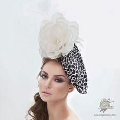 Arturo Rios Collection Luna Fascinator Hat Black And White Fascinators 2853d8087f8
