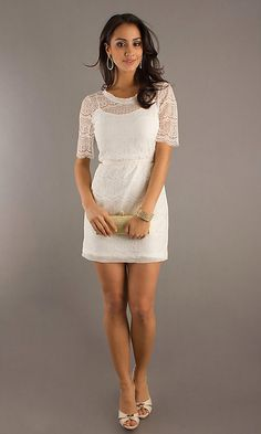 Crochet Little White Dress by Max & Cleo BC-FDF6R264-104