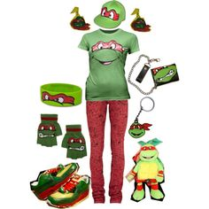 Raphael; Teenage Mutant Ninja Turtles, created by this-is-insanity-at-its-finest on Polyvore
