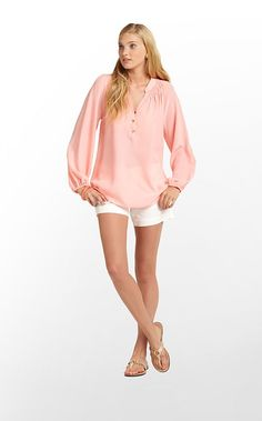 a3172656bea5 Elsa Top in sherbert with white shorts Lilly Pulitzer Tops