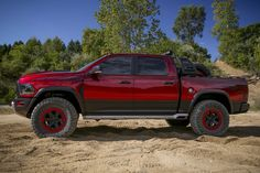 Ram just got serious about competing with the 2017 Ford Motor Company [NYSE:F] F-150 Raptor. The truckmaker unveiled Thursday its Ram Rebel TRX concept, powered by a supercharged 6.2-liter V-8 that makes 575 horsepower. Yup, that 6.2-liter supercharged V-8. This may be as close as we'll get to a...