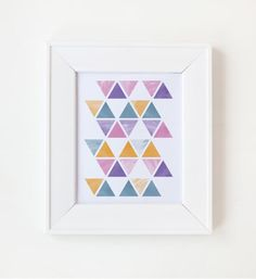 8x10 Digital Print Watercolor Triangles by QuiteFetchingInvites, $20.00 Triangles, Digital Prints, Watercolor, Building, Unique Jewelry, Frame, Handmade Gifts, Interior, Etsy