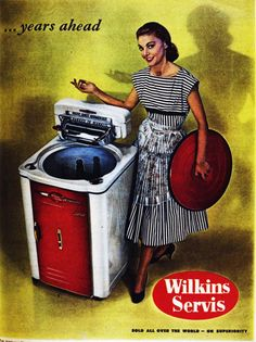 Every housewife wants a Wilkins Servis washing machine, 1959.