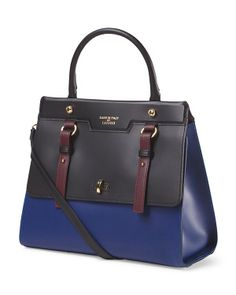 Made In Italy Colorblock Satchel