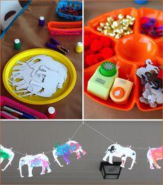 Kids table activity - E is for Elephant Elephant Crafts, Elephant Party, Elephant Birthday, Elephant Theme, Elephant India, Indian Elephant, Diwali Elephants, Indian Birthday Parties, Indian Party
