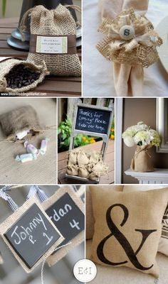 Burlap wedding ideas + links to more wedding inspiration sites.