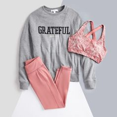Girls Fashion Clothes, Sporty Outfits, Winter Fashion Outfits, Cute Outfits, Lounge Outfit, Lounge Wear, Womens Workout Outfits, Fitness Outfits, Stitch Fix Outfits