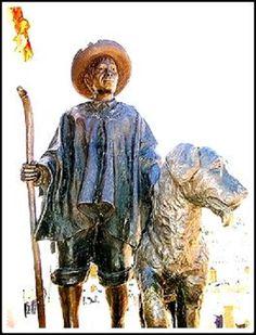 Monumento al Perro nevado y al noble Andino que cuida su linaje único en el mundo. Mérida Venezuela