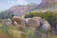 McKinley-Stones-of-the-Sandia - Southwest Art Magazine Pastel Landscape, Watercolor Landscape, Landscape Paintings, Watercolor Art, Landscapes, Pastel Drawing, Pastel Art, Paintings I Love, Pastel Paintings
