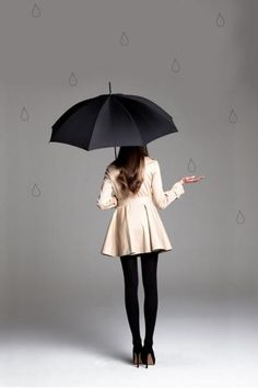 tut tut... looks like rain {trench coat by paper crown} #umbrella