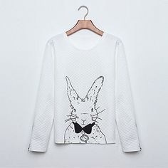 2017 Women Spring Autumn Hoodies Plus Size Lovely Animal Cartoon Printed Sweatshirts Long Sleeve O Neck Casual Blouse Pullovers