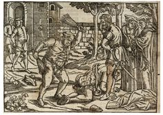 John Foxe's Actes and Monuments, better known as The Book of Martyrs, was one of the most elaborate early books produced, with vivid woodcut illustrations. The book is an account of Christian martyrs and martyrdom throughout Western history, with an emphasis on the Protestant martyrs of the early 16th centuries. For more information on the Fisher copies: http://fisher.library.utoronto.ca/highlights/foxes-book-of-martyrs