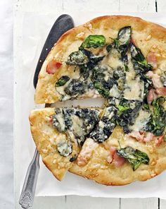 Pinaatti-pekonipizza | Koti ja keittiö