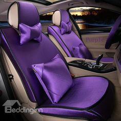 Solid Color All-Inclusives Style Ultra Comfortable 3D Car Seat Covers - beddinginn.com