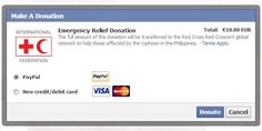 How social media is boosting aid to the Philippines Facebook News, About Facebook, Visa Card, Make A Donation, Application Development, Red Cross, Prompts, Over The Years, Philippines