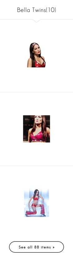 """Bella Twins(10)"" by jamiehemmings19 ❤ liked on Polyvore featuring bella twins, tops, wwe, the bella twins, red top, home, home decor, frames and nikki bella"