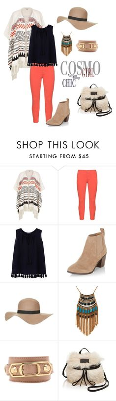 """Cosmo Chic"" by fancy-chic ❤ liked on Polyvore featuring River Island, NYDJ, MANGO, New Look, Topshop, Leslie Danzis, Balenciaga and Marc by Marc Jacobs"