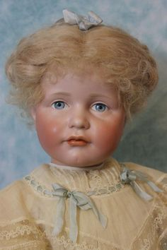 "Antique 23.5"" German Bisque Art Character Gretchen 114 by Kammer and Reinhardt…"