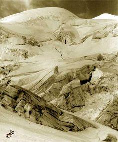 WW1, Italy. From Paso del Lago Gelato towards Cevedale. PRIMA GUERRA MONDIALE…
