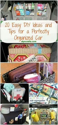 If you have kids -20 Tips for a Perfectly Organized Car